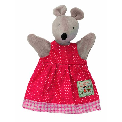 Moulin Roty La Grande Famille Hand Puppet - Nini the Mouse 25cm