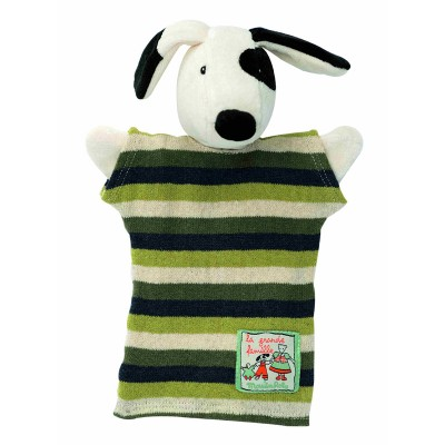 Moulin Roty La Grande Famille Hand Puppet - Julius the Dog 25cm