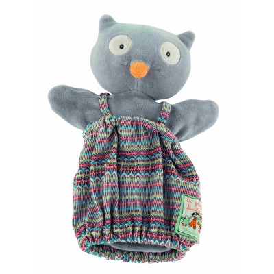 Moulin Roty La Grande Famille Hand Puppet - Isidore the Owl 25cm