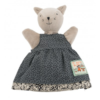 Moulin Roty La Grande Famille Hand Puppet - Agathe the Cat 25cm