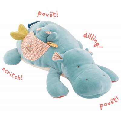 Moulin Roty Les Papoum Large Activity Hippo 38cm