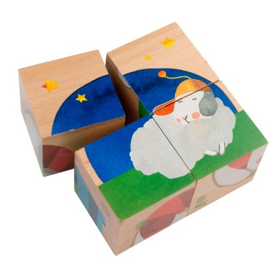Wood Cubes Baby Visual And Agility Awakening Toy