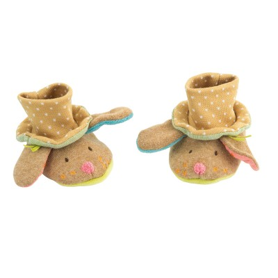 Dog Brown Baby Slippers