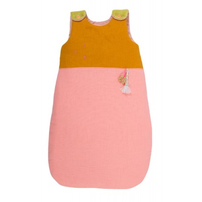 Baby Girl Pink & Peach Security Sleeping Bag, 70Cm