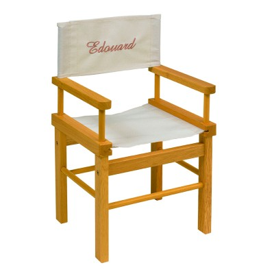 Child Director Chair - Natural Wood
