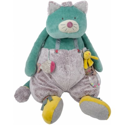 Moulin Roty Les Pachats Blue Activity Cat 63cm