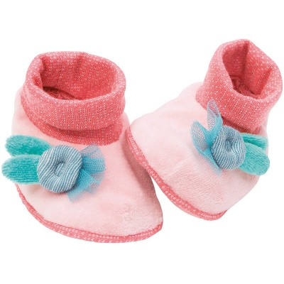 Moulin Roty Mademoiselle et Ribambelle Peach Baby Slippers 0-6mos