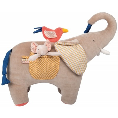 Moulin Roty Les Papoum Activity Elephant 32cm