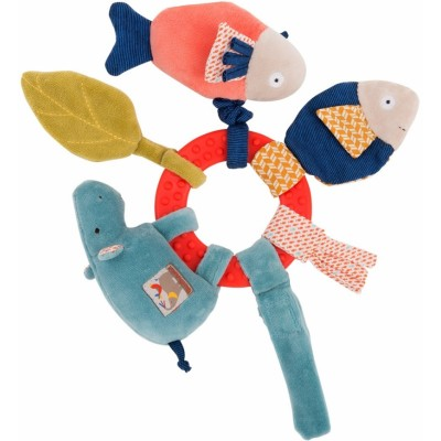 Moulin Roty Les Papoum Hippo Activity Rattle 24cm
