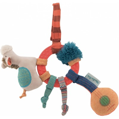 Moulin Roty Les Zig et Zag Horse Ring Rattle 27cm