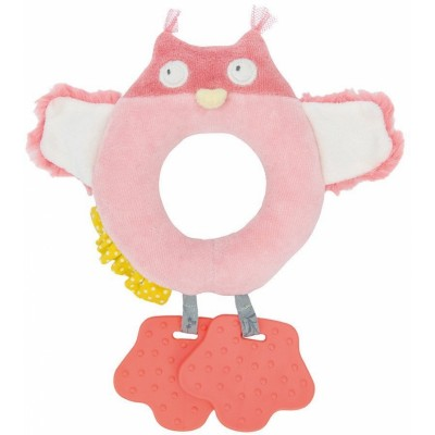 Moulin Roty Mademoiselle et Ribambelle Baby Owl Ring Rattle with Teether 21cm
