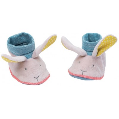 Moulin Roty Mademoiselle et Ribambelle Rabbit Baby Slippers 0-6mos