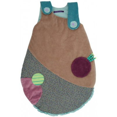 Moulin Roty Les Jolis Pas Beaux Brown & Green Baby Sleeping Bag 70cm