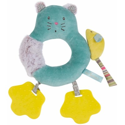 Moulin Roty Les Pachats Cat Ring Rattle 22cm
