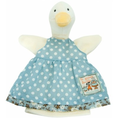 Moulin Roty La Grande Famille Hand Puppet - Jeanne the Goose 25cm