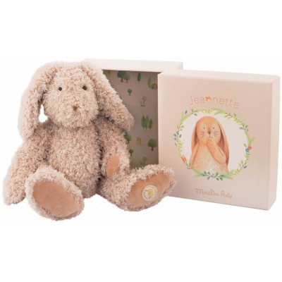 Moulin Roty Vite un Calin Jeannette Mummy Rabbit in a Box 32cm