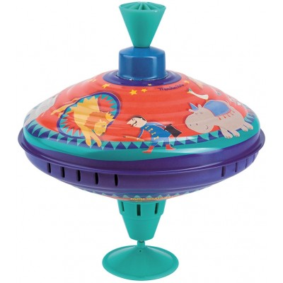Moulin Roty Les Jouets Metal Large Spinning Top - Circus ø20x18cm
