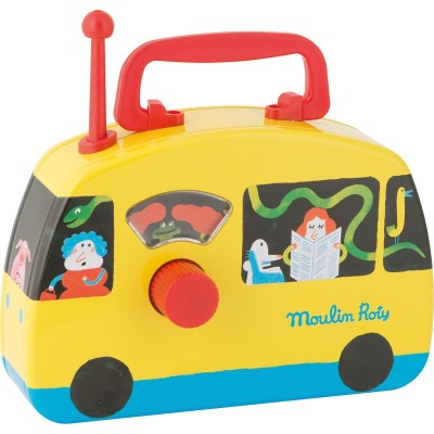Moulin Roty Les Jouets Metal Radio Musical Bus 20x14.5cm
