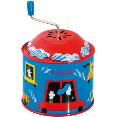 Moulin Roty Les Jouets Metal Musical Mill, Vehicles ø7.5x11cm