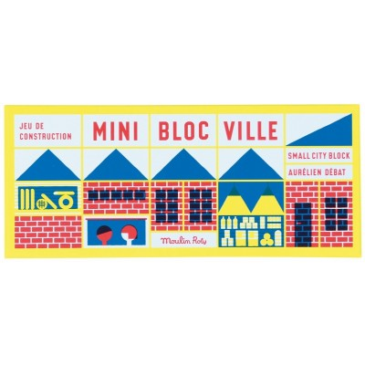 Moulin Roty Dans la Ville Mini Wooden City Building Blocks (23pcs) 25x10cm