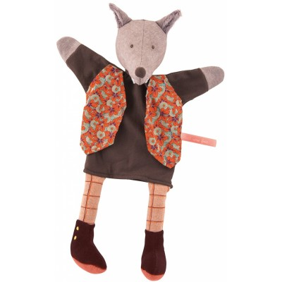 Moulin Roty Il Etait Une Fois Hand Puppet - The Gentleman Wolf 34cm