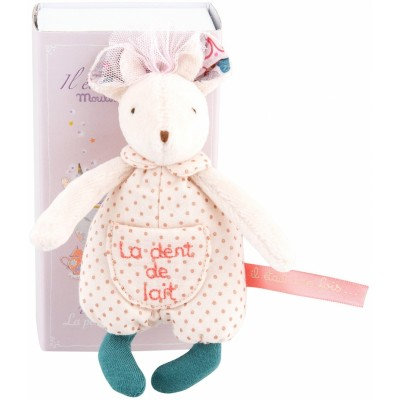 Moulin Roty Il Etait Une Fois Milk Tooth Fairy Mouse in a Box 13.5cm