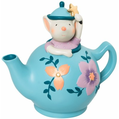 Moulin Roty Il Etait Une Fois Mouse in a Teapot Money Bank 15x14x9cm