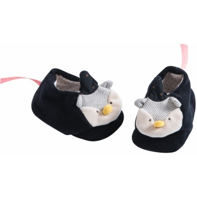 Moulin Roty Il Etait Une Fois Owl Wizard Baby Slippers 0-6mos