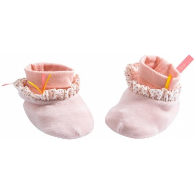 Moulin Roty Il Etait Une Fois Pink Fairy Baby Slippers 0-6mos