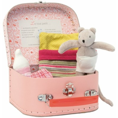 Moulin Roty La Grande Famille Baby Mouse Cot Suitcase 16x13cm