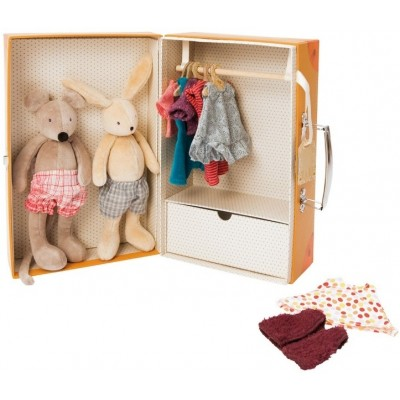 Moulin Roty La Grande Famille Fashion Wardrobe Suitcase 28.5x18.5cm