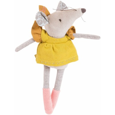 Moulin Roty Le Voyage d'Olga Lisette the Olive Mouse 20cm