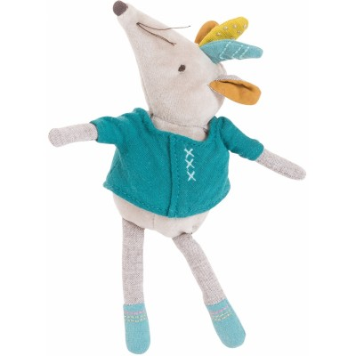 Moulin Roty Le Voyage d'Olga Pablo the Turquoise Mouse 20cm