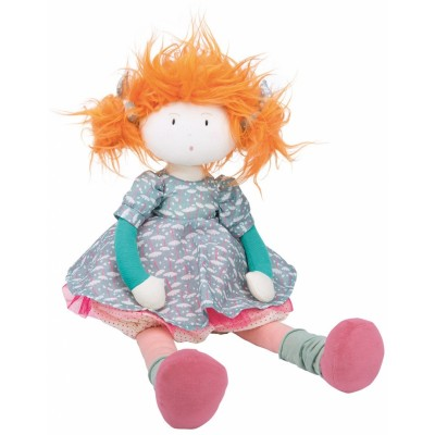 Moulin Roty Les Coquettes Adele Rag Doll in Linen/Cotton Bag 38cm