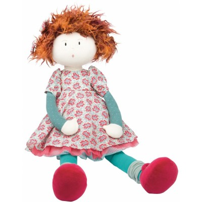 Moulin Roty Les Coquettes Fanette Rag Doll in Linen/Cotton Bag 50cm