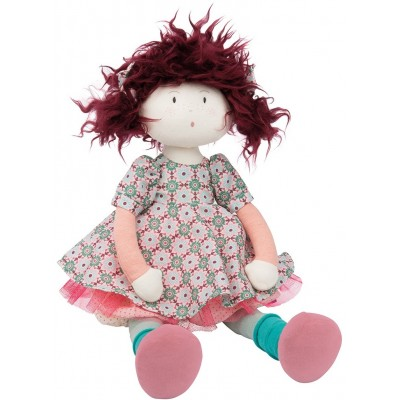 Moulin Roty Les Coquettes Jeanne Rag Doll in Linen/Cotton Bag 38cm