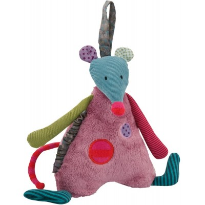 Moulin Roty Les Jolis Pas Beaux Hanging Musical Pullstring Mouse 22cm
