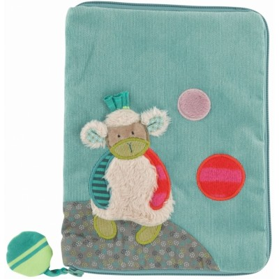 Moulin Roty Les Jolis Pas Beaux Health Book Cover - Sheep 23x18cm
