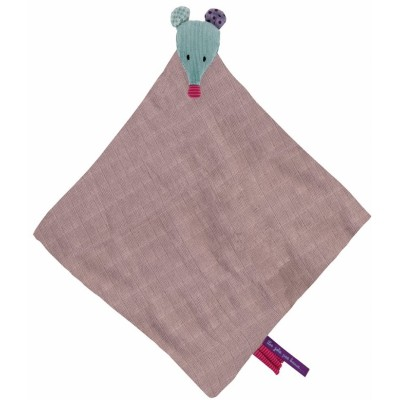 Moulin Roty Les Jolis Pas Beaux Soft Cloth Doudou Mouse 47x47cm