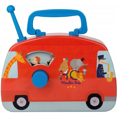 Moulin Roty Les Jouets Metal Circus Musical Bus 20x14.5cm