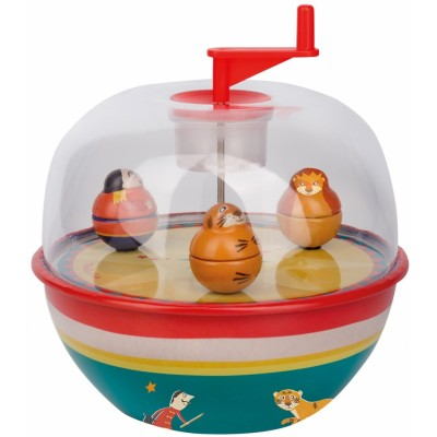Moulin Roty Les Jouets Metal Musical Globe, Circus 14.5x16.5cm