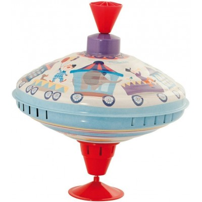 Moulin Roty Les Jouets Metal Large Spinning Top - Parade ø20x18cm