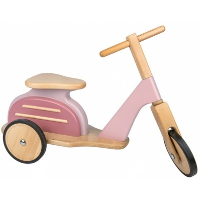 Moulin Roty Les Jouets Retro Pink Wooden Scooter 68.5x26x43.5cm