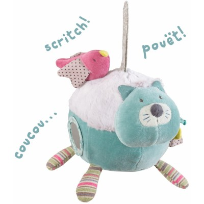 Moulin Roty Les Pachats Activity Cat Ball 18cm