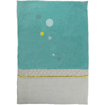 Moulin Roty Les Pachats Baby Quilt Planets & Stars 100x140cm