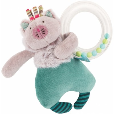 Moulin Roty Les Pachats Cat Beads Rattle 16cm