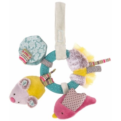 Moulin Roty Les Pachats Early-Learning Ring Rattle 24cm