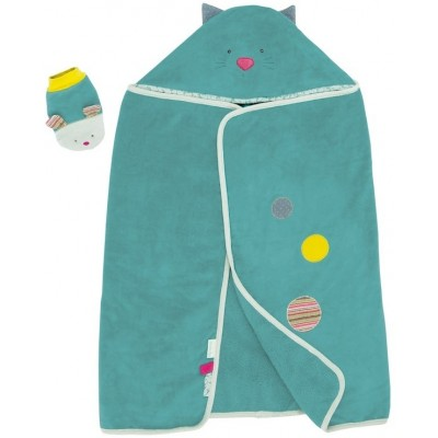 Moulin Roty Les Pachats Hooded Bath Towel 114x84cm