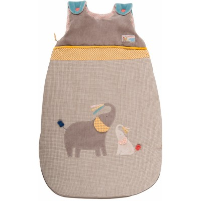 Moulin Roty Les Papoum Elephant Baby Sleeping Bag 70cm