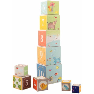 Moulin Roty Les Papoum Stack-Up Cubes 15.5x15.5cm
